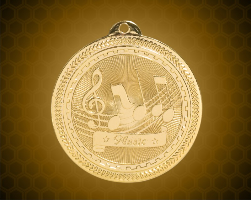 2 inch Gold Music Laserable BriteLazer Medal