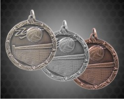 2 1/2 Inch Volleyball Shooting Star Medals