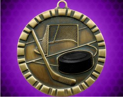 2 inch Hockey 3-D Medal