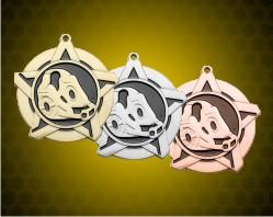 2 1/4 inch Wrestling Super Star Medals