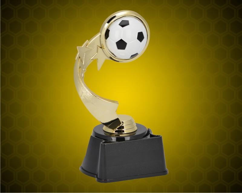 "7"" Soccer Ribbon Star Trophy"