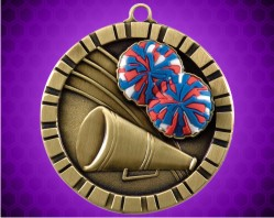 2 inch Cheer 3-D Medal