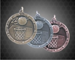 2 1/2 Inch Basketball Shooting Star Medals