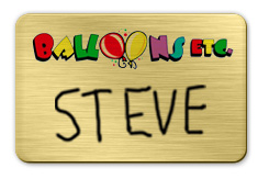 Brushed Gold Dry Erase Name Tag with Logo