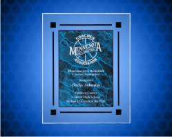 Blue Marble Acrylic Clear Plaq