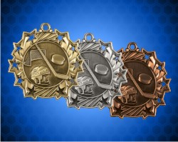 2 1/4 Inch Hockey Ten Star Medals