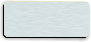 Blank Smooth Plastic Name Tag: Brushed Aluminum and Black - LM922-354