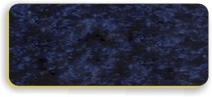 Blank Smooth Plastic Name Tag: Celestial Blue and Gold - LM 922-557
