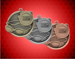 2 1/4 inch Swimming Mega Medals