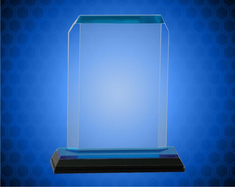 3 1/2 x 5 1/2 Blue Clip Corner Impress Acrylic