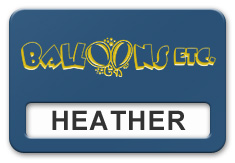 Reusable Smooth Plastic Windowed Name Tag: Sky Blue with Yellow - LM922-517