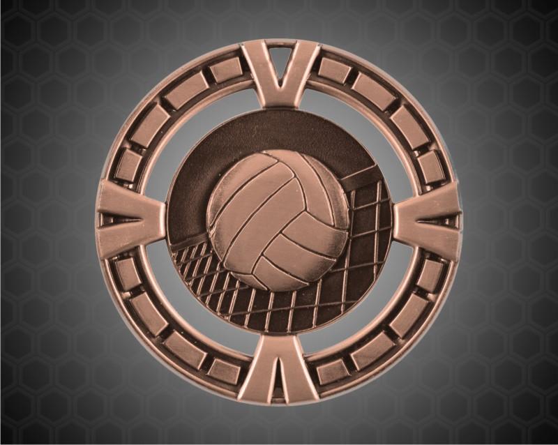 2 1/2 inch Bronze Volleyball BG Medal