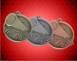 2 1/4 inch Cheerleading Mega Medals