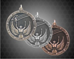 2 1/2 Inch Victory Shooting Star Medals
