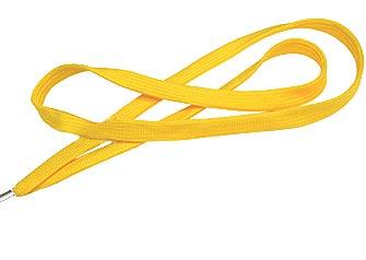 Yellow Flat Woven Lanyard