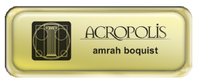 Metal Name Tag: Shiny Gold with Epoxy and Shiny Gold Metal Border