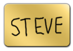 Shiny Gold Dry Erase Name Tag