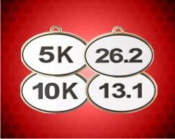 2 1/2 inch Marathon Oval Running Medals