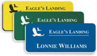 Textured Plastic Name Tags