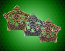 "2 1/4 inch ""If You Had Fun You Won"" Star Medals"
