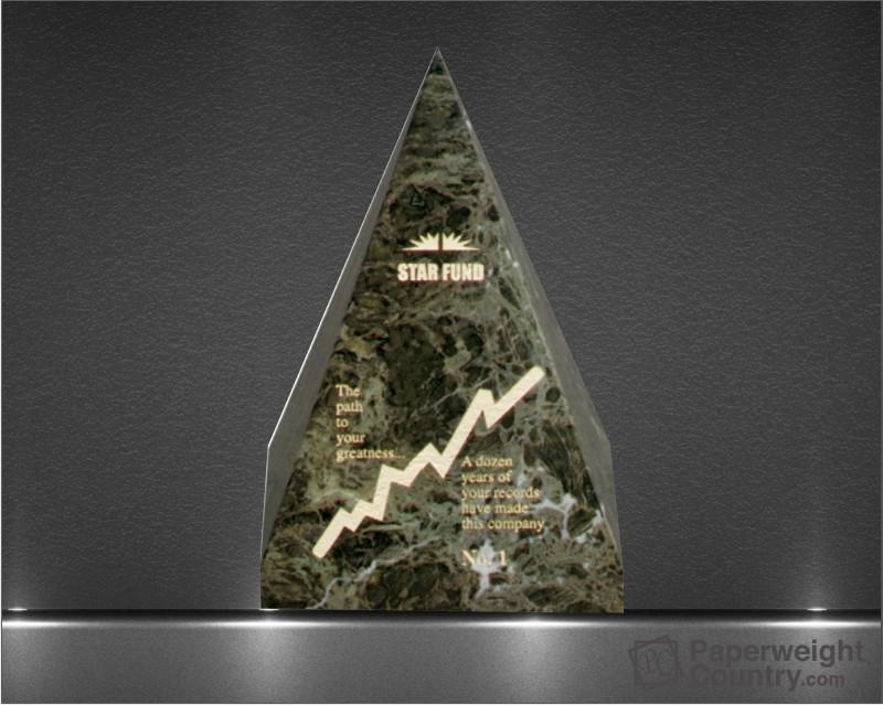 6 x 4 x 4 Inch Jade Leaf Green Pyramid