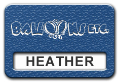 Reusable Textured Plastic Windowed Nametag: Royal Blue with White - 822-592