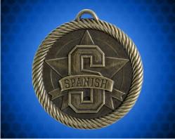 2 inch Spanish Value Medal