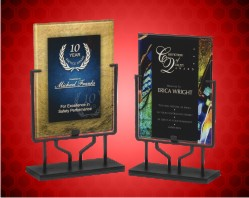 Acrylic Art Plaques with Iron Stand