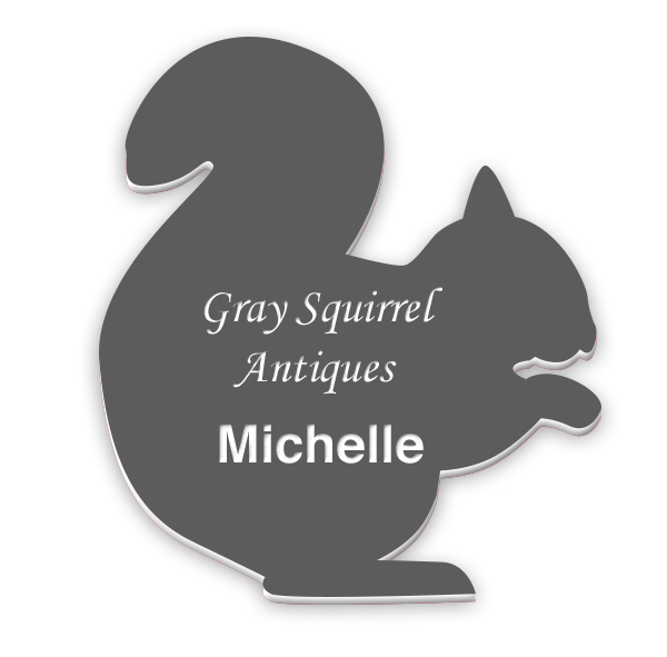 Smooth Plastic Squirrel Shape Name Tag - 3.6 x 3 inches