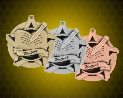 2 1/4 inch Writing Super Star Medals
