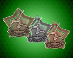 2 1/4 inch Gymnastics Star Medals