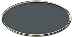 Blank Silver  Oval Framed Nametag with Smoke Grey