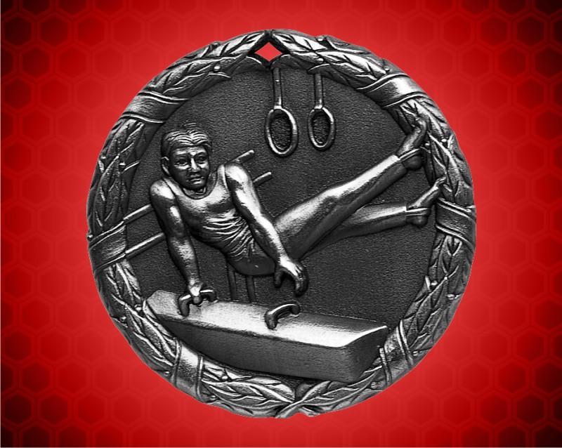 2 inch Silver Gymnastics XR Medal