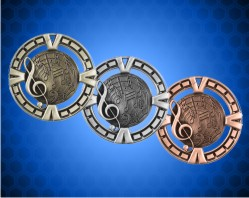 2 1/2 inch Music BG Medals