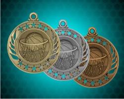 2 1/4 Inch Basketball Galaxy Medals