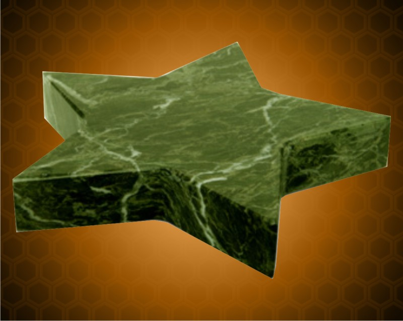 Green Marble Star Paperweight
