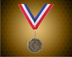 Gold Victory Medal w/ Red, White, and Blue Ribbon