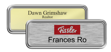 Silver Rounded Frame Nametags