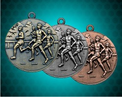 1 1/2 Inch Cross Country Die Cast Medal