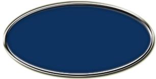 Blank Silver Framed Nametag Patriot Blue