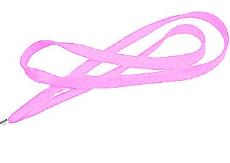 Pink Flat Woven Lanyard