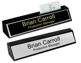 Marble Desk Plates with Metal Name Plates