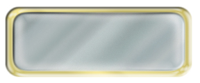 Blank Shiny Silver Nametag with a Shiny Gold Metal Border