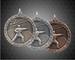 2 1/2 Inch Karate Shooting Star Medals