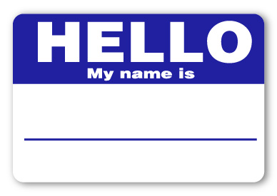 sticker hello my name is navy blue name tags. Black Bedroom Furniture Sets. Home Design Ideas