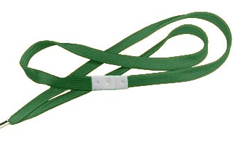Forest Green Flat Woven Break-Away Lanyard