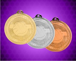 2 Inch Volleyball Laserable Britelazer Medals