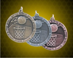1 3/4 Inch Basketball Shooting Star Medals