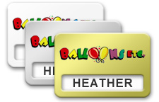Metal Reusable Windowed Name Tags