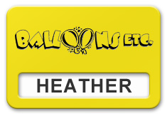 Reusable Smooth Plastic Windowed Name Tag: Canary Yellow with Black - LM922-704